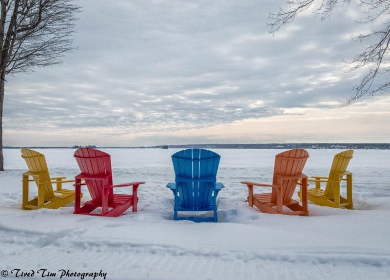 Norway Bay Chairs in Winter