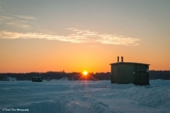 Sunrise on Ice Shack